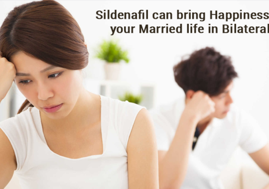 Sildenafil can bring happiness back in your married life in bilateral ways